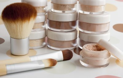 Woman's Makeup, Brushes, Powder