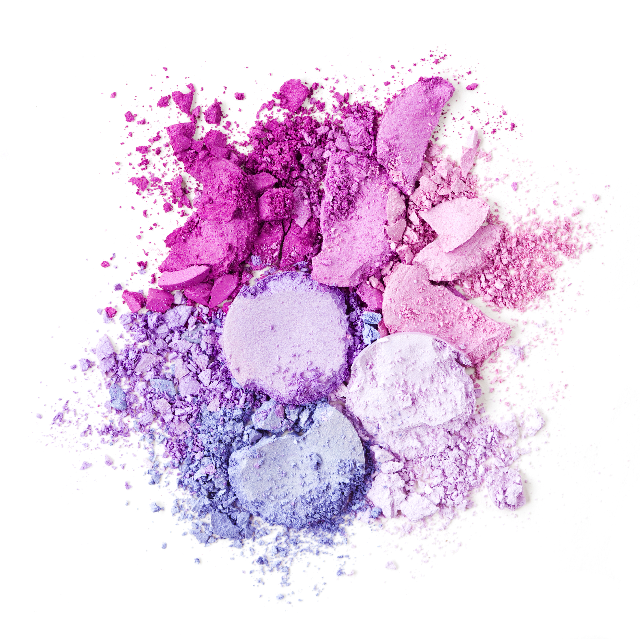 Crushed Brightly Colored Makeup Purple Pink