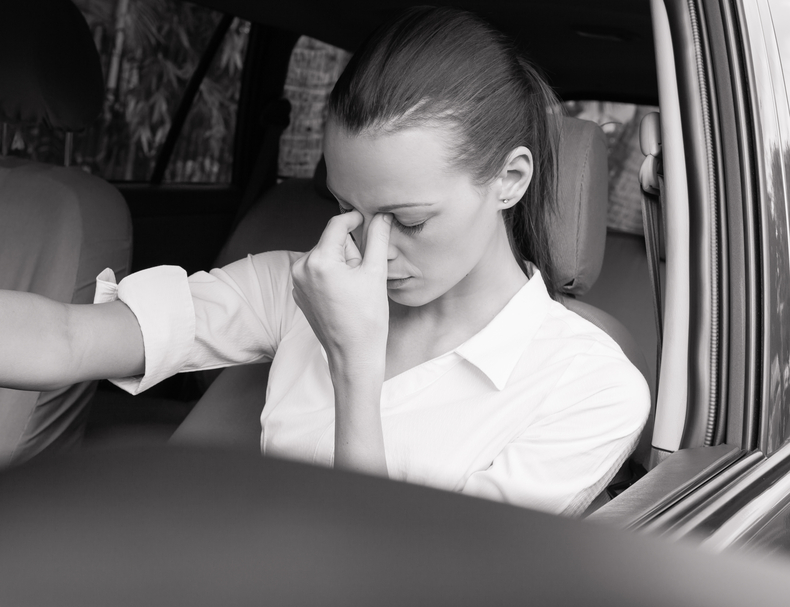 Stressed Woman Driver