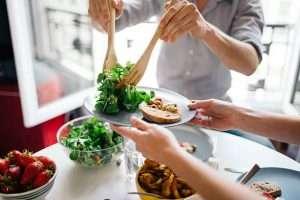 Serving Salad - Sharing Food