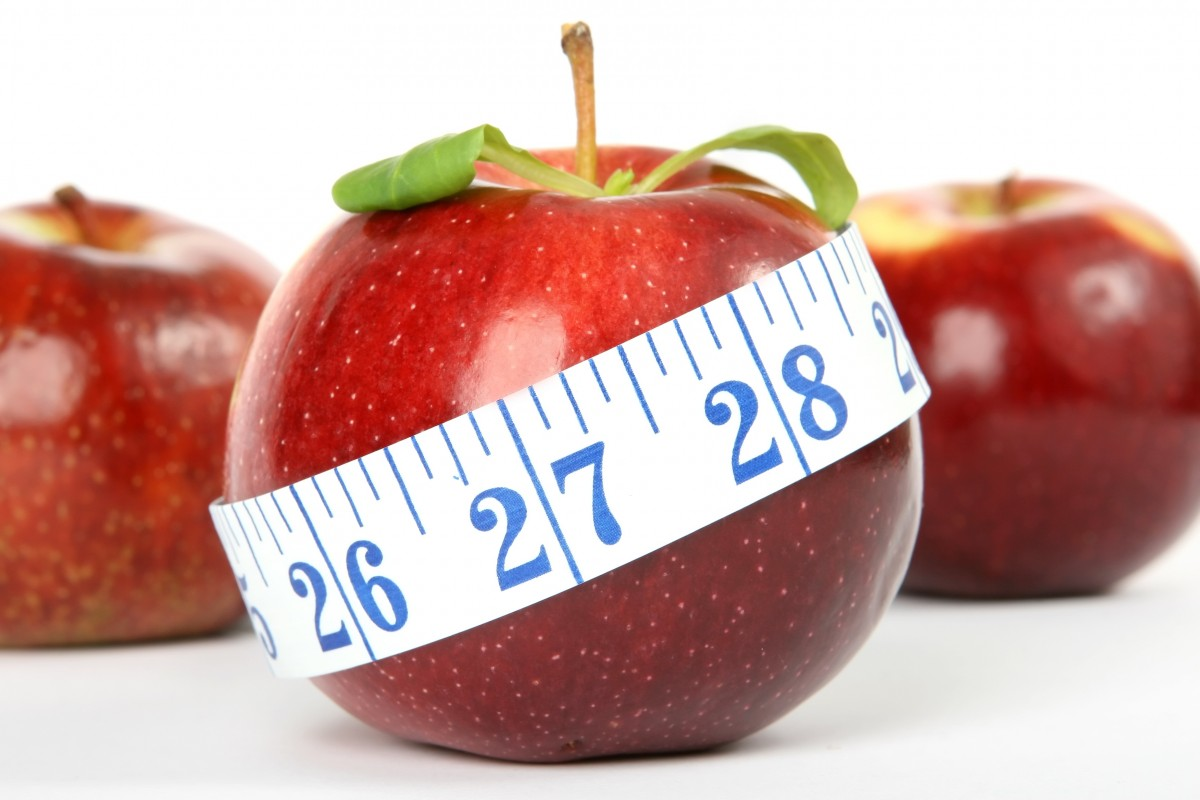 Measuring Tape Around Apple Circumference