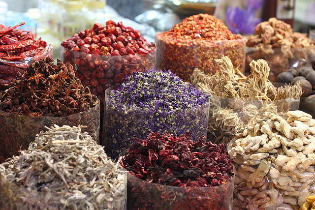 Spice Bins in the Marketplace