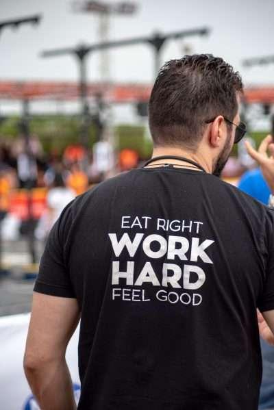 Eat Right Work Hard Feel Good