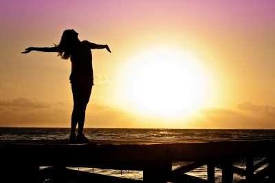 Woman Worshipping Sun