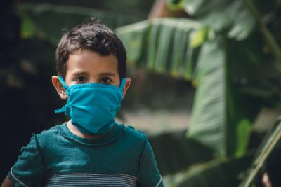 boy with face mask